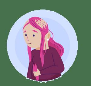 טריכוטילומניה - תלישת שערות